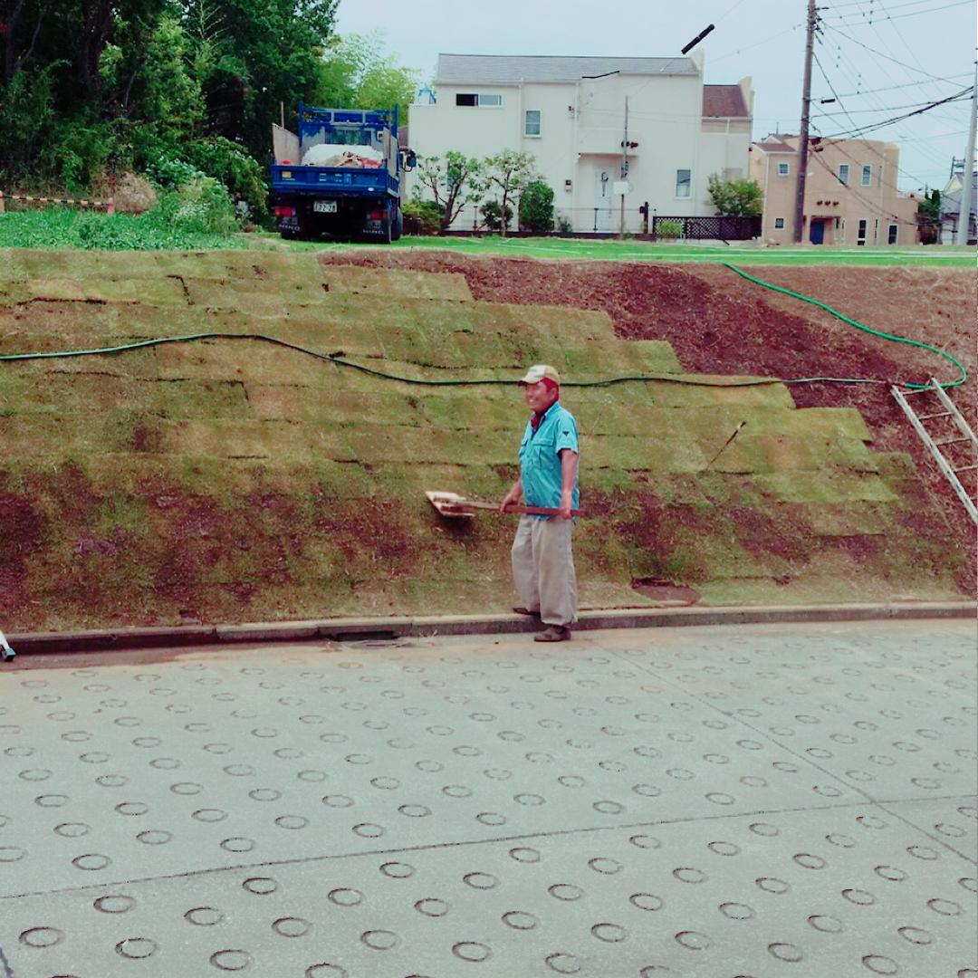 父ちゃんの芝植え(2017.08.24)