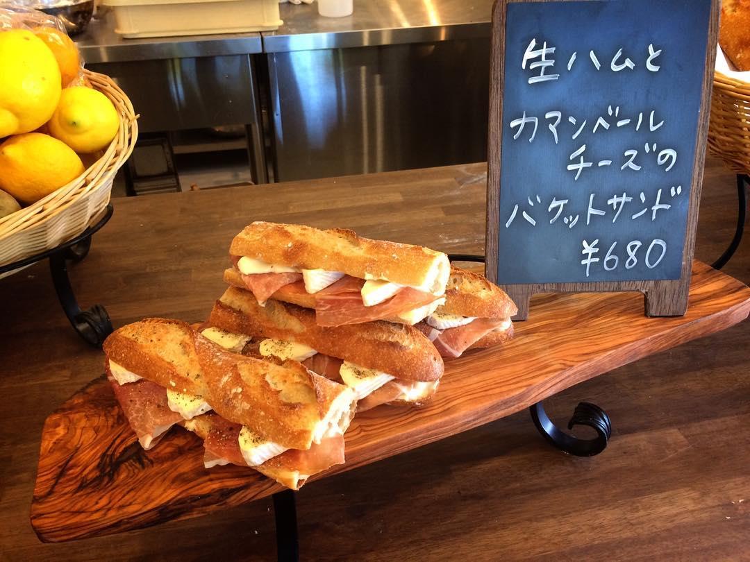 生ハムとカマンベールチーズのバゲットサンド(2018.06.10)