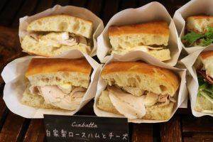 バゲットサンドは8時から、サンドウィッチ類は11時半ころからご用意させていただいております(2020.03.13)