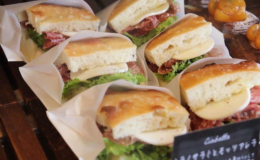 バゲットサンドは8時から、サンドウィッチ類は10時ころからご用意させていただいております(2020.04.01)