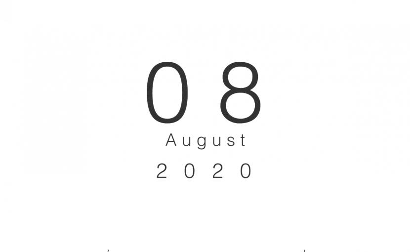 2020年08月の営業日