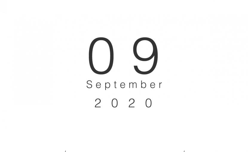 2020年09月の営業日