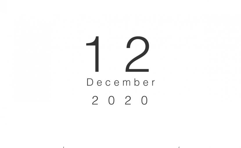 2020年12月の営業日