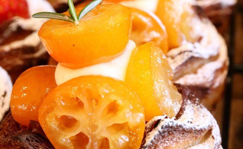 「金柑とクリームチーズのデニッシュ」「とちおとめをつかった苺のデニッシュ」たいへん好評いただいています(2021.01.20)