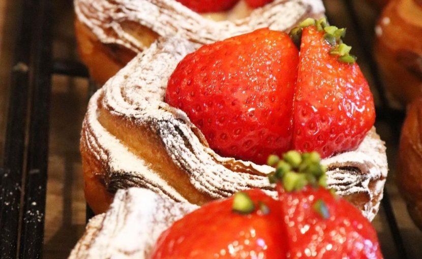 「とちおとめの苺のデニッシュ」「金柑とクリームチーズのデニッシュ」たくさんご用意しています(2021.02.03)