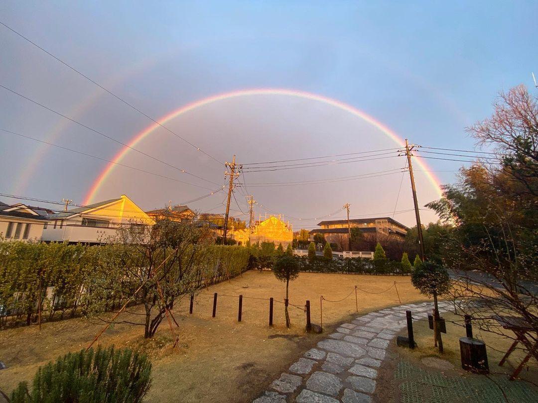 虹が見えました(2021.03.13)