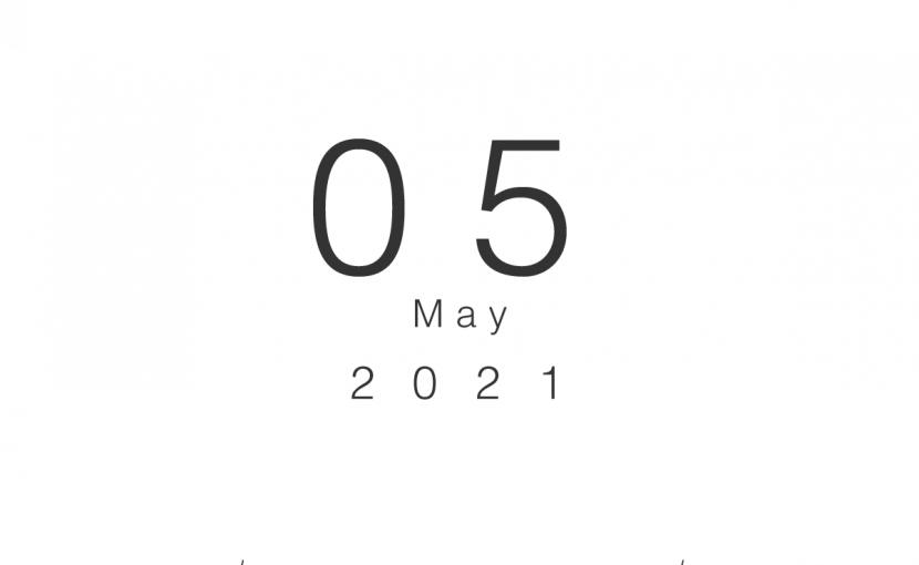 2021年5月の営業日