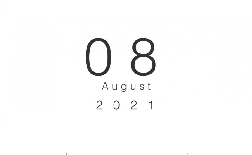 2021年8月の営業日のお知らせ