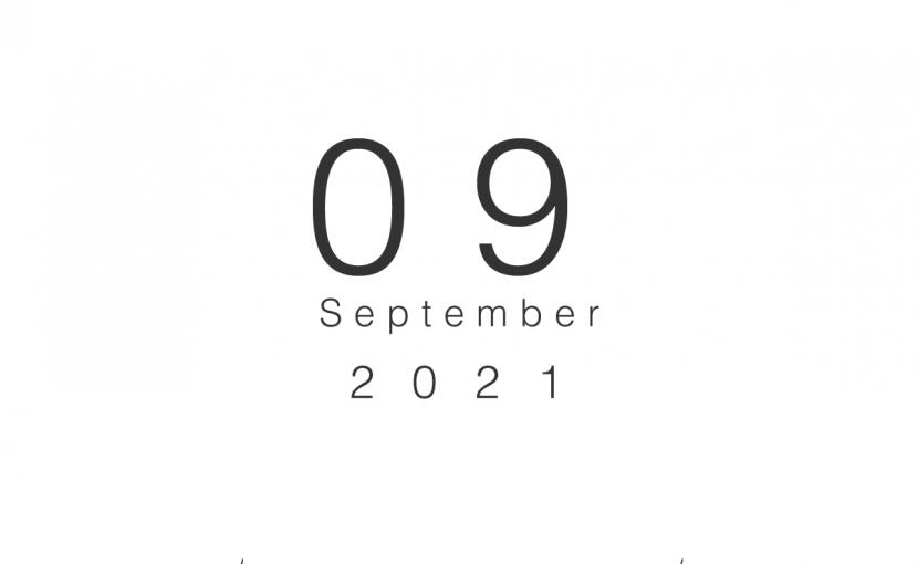 2021年9月の営業日のお知らせ