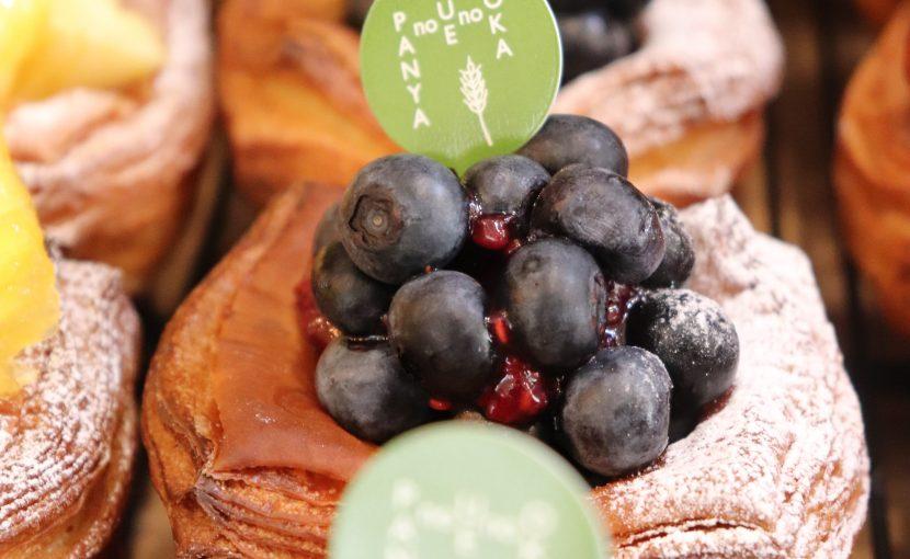 季節限定のデニッシュ「無農薬ブルーベリーのデニッシュ」他、ルーツデニッシュたいへん好評いただいています(2021.08.13)