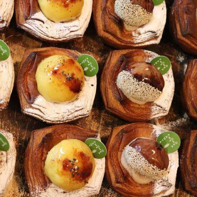 無農薬安納芋を使用したまんまるお月様の「スィートポテト(安納芋)のデニッシュ」他たくさんのデニッシュをご用意しています(2021.10.20)